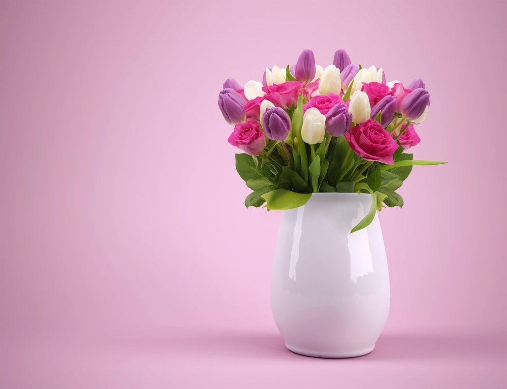 bouquet, vase, flowers