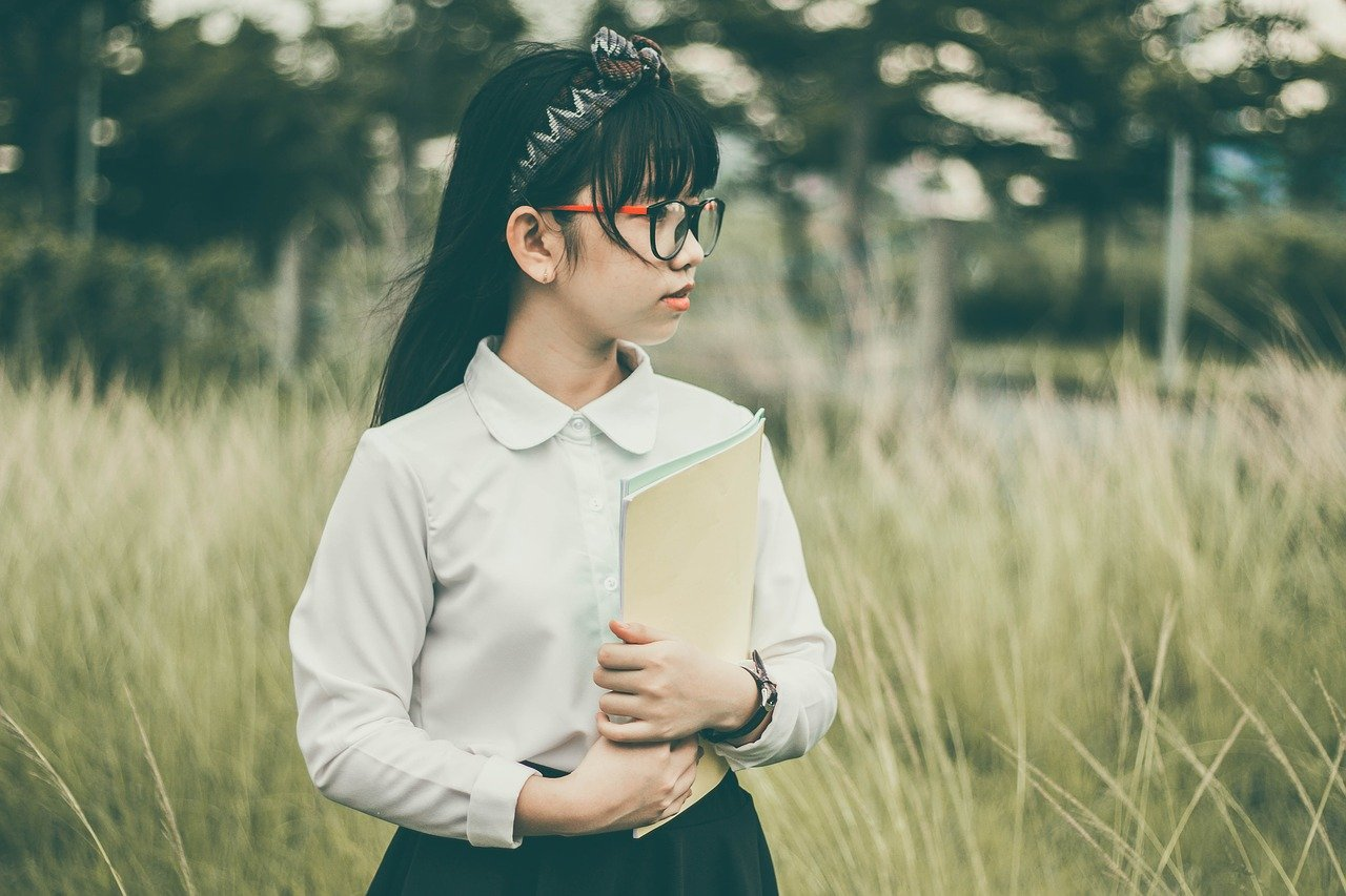 asian, school children, student