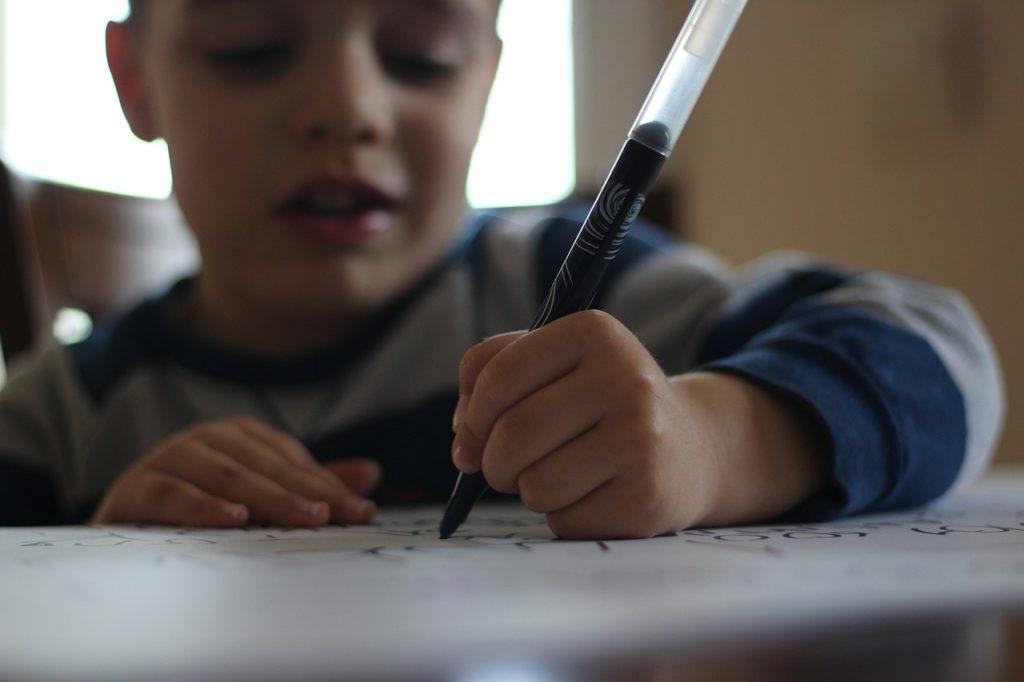pen, child, write articles