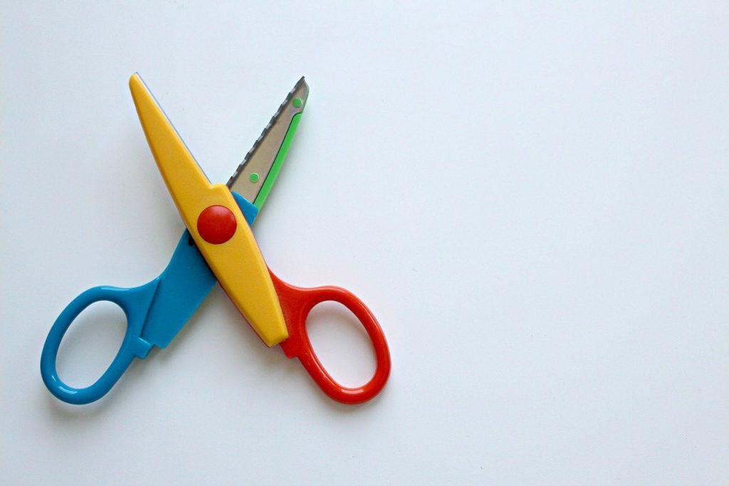 scissors, colorful scissors, color