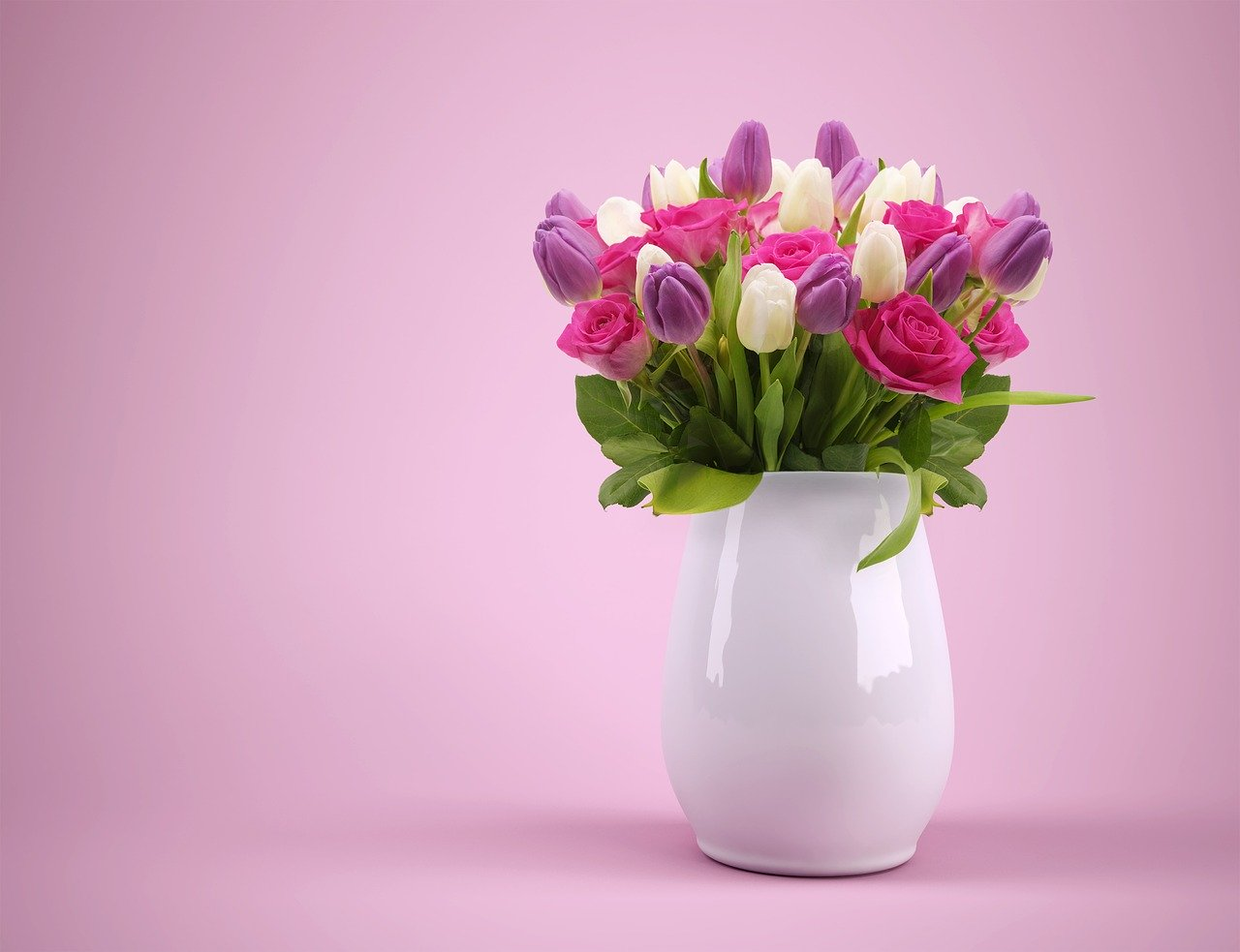 bouquet, vase, flowers