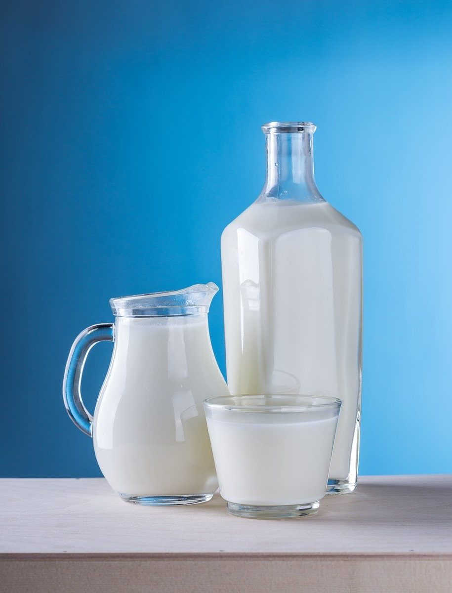 milk, dairy products, pitcher