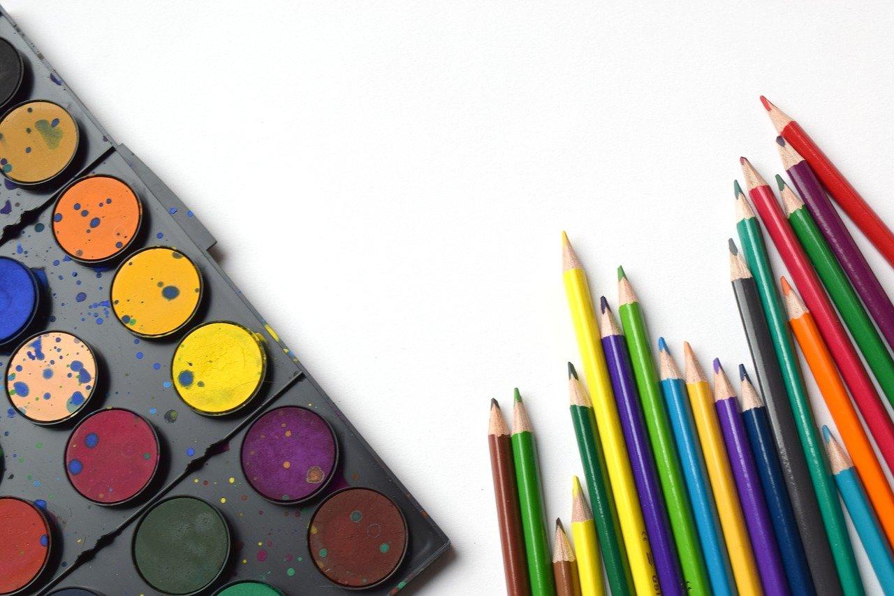 back to school, pencils, rainbow