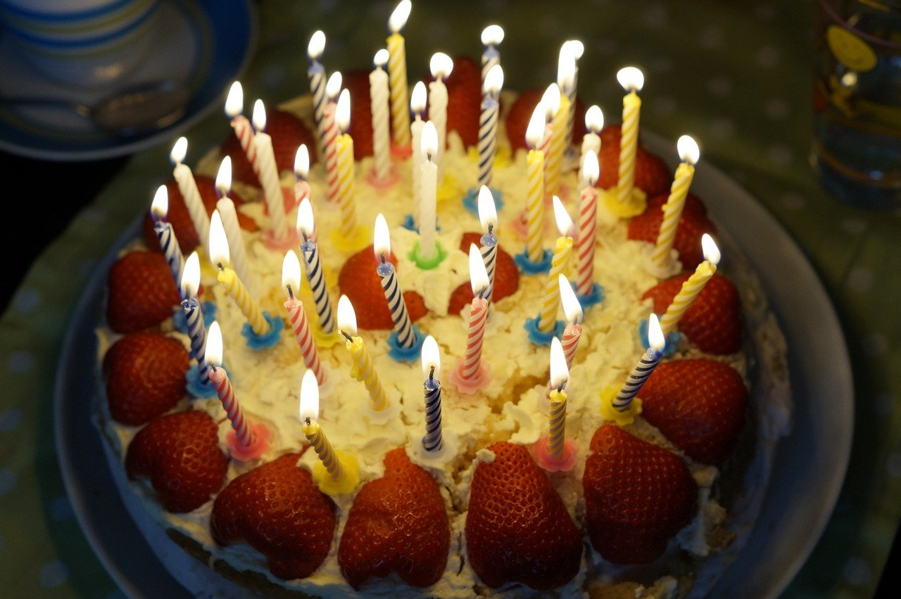 birthday cake, burn, candles